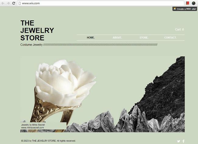 アクセサリー&工芸品用のHTML5ホームページテンプレート