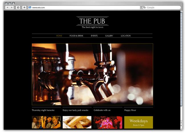 バー&レストラン用のHTML5ホームページテンプレート