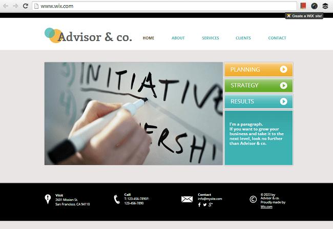 ビジネス&コンサルティング用のHTML5ホームページテンプレート