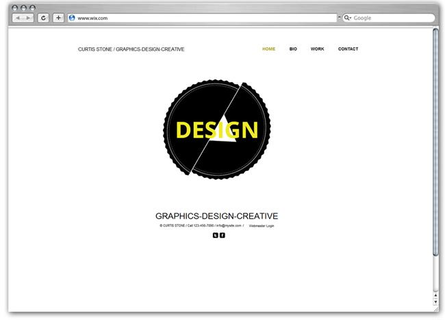 グラフィックデザイン用のHTML5ホームページテンプレート