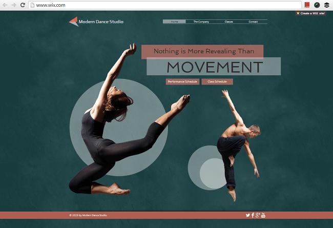 ダンス・スタジオ用のHTML5ホームページテンプレート
