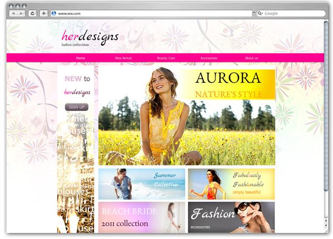 ファッション&ネットショップ用のHTML5ホームページテンプレート