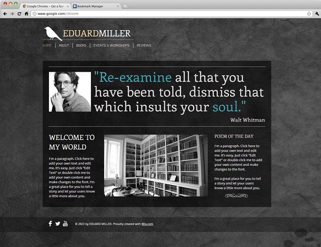 作家向けのホームページテンプレート