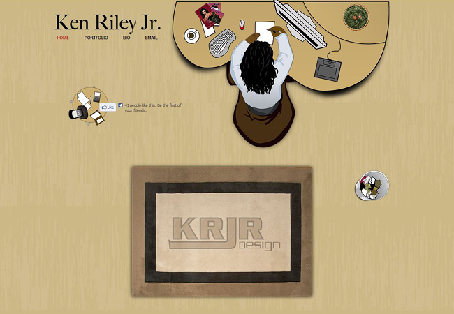 Ken Riley Jr. のWixサイト