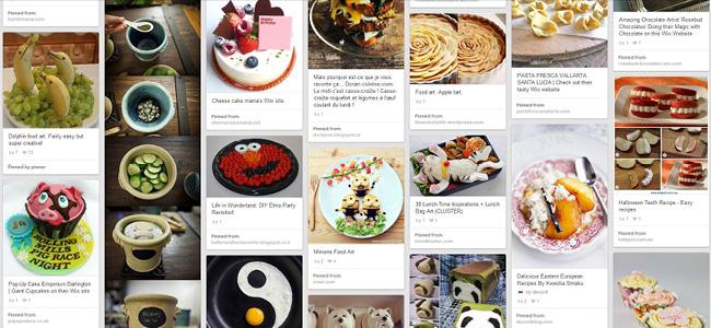 Pinterestのフード関連ページ