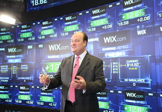 Wix.comのNASDAQ上場セレモニー