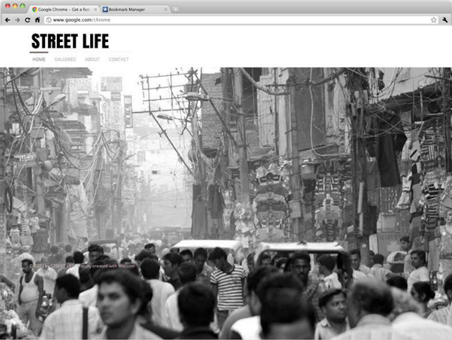 Street Life 写真家のポートフォリオサイトの無料テンプレート