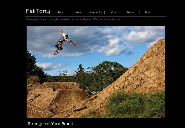 Fat TonyのWixサイト