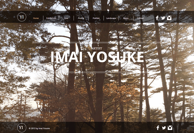 Imai YosukeさんのWixホームページ