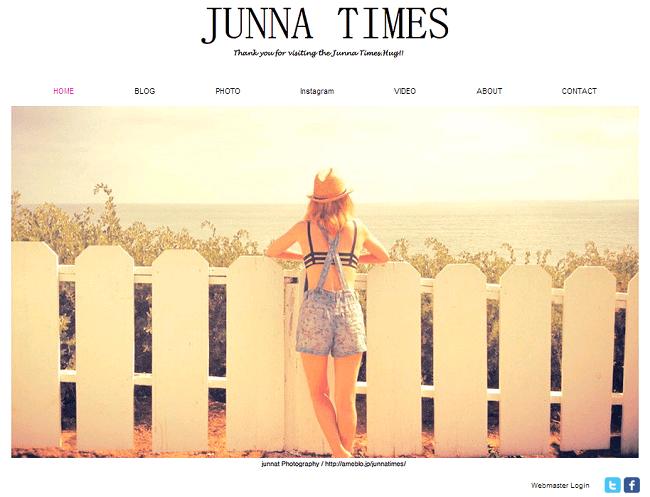 Junna TimesのWixホームページ