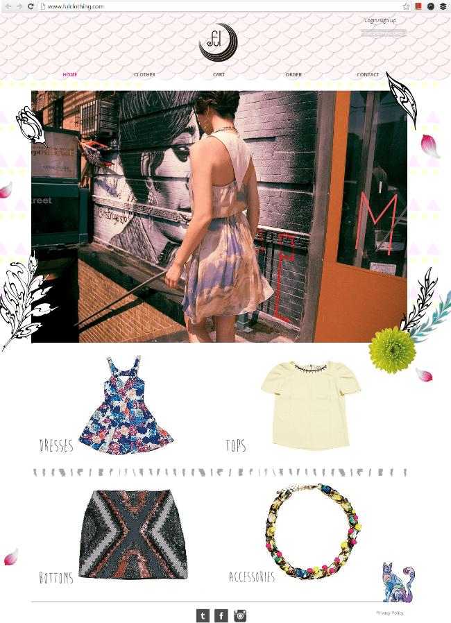 ファッションブランドのWixホームページ