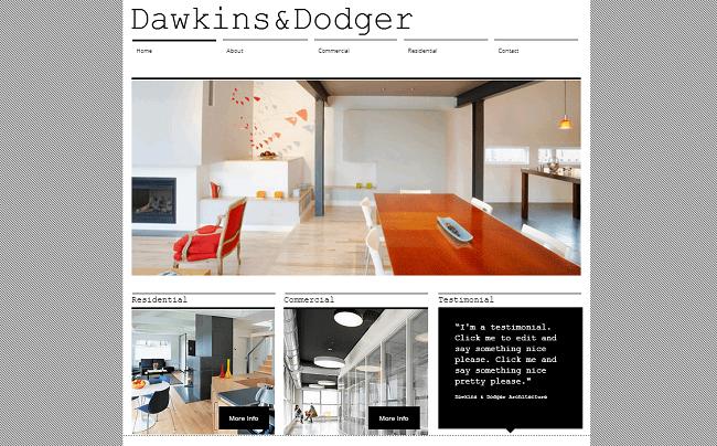 建築・インテリアデザイナー用ホームページテンプレート