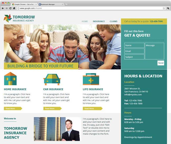 保険ビジネス向けテンプレート