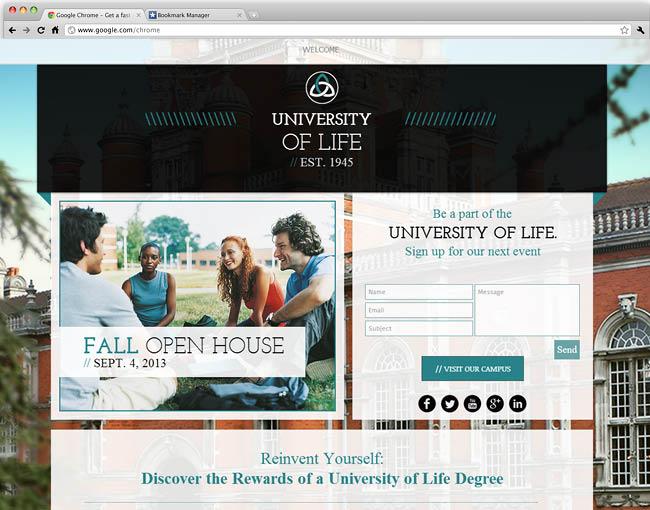 教育系ビジネス向けホームページテンプレート