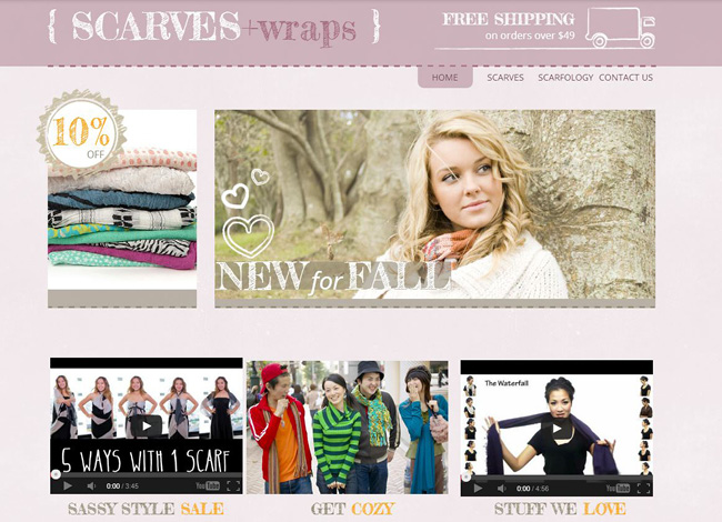 スカーフを販売するホームページ