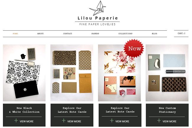 文具の新製品を売るネットショップのホームページ