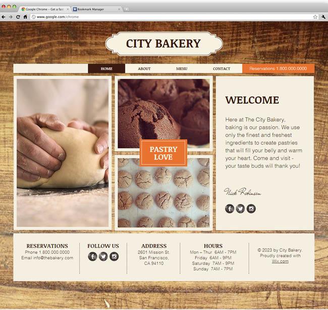 テンプレート「The Bakery」