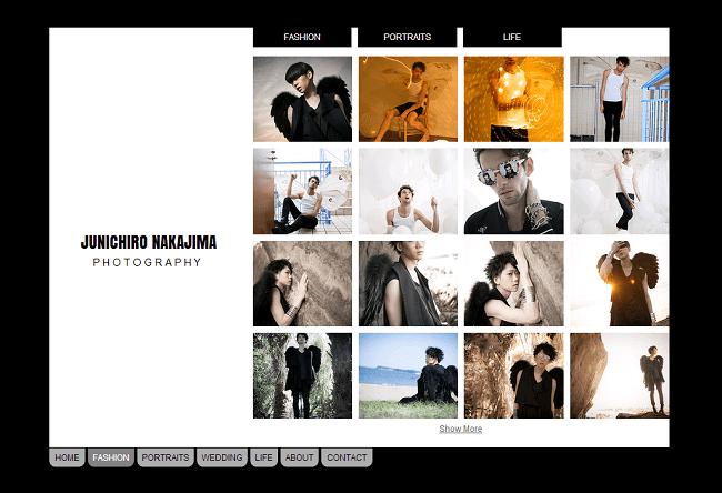 Junichiro NakajimaさんのWixサイト