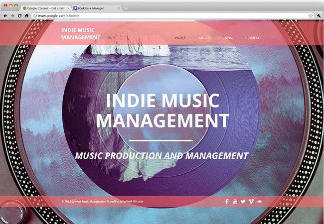 インディーズバンドのサイトテンプレート