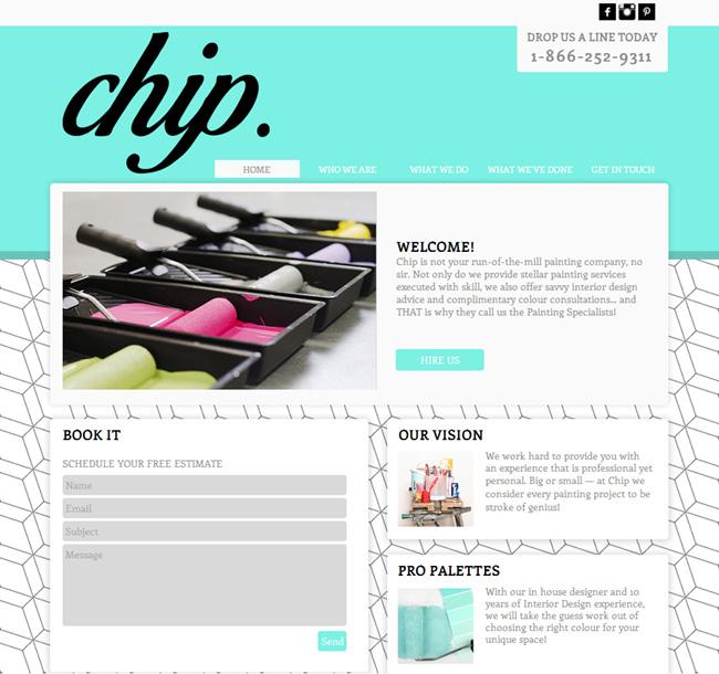 Chip Paintingのウェブデザイン