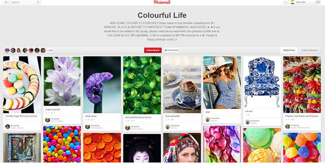 Colorful Life Pinterestボード