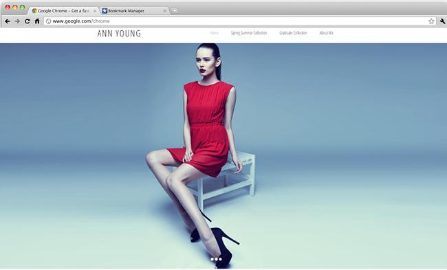 ファッションデザイナー向けホームページテンプレート