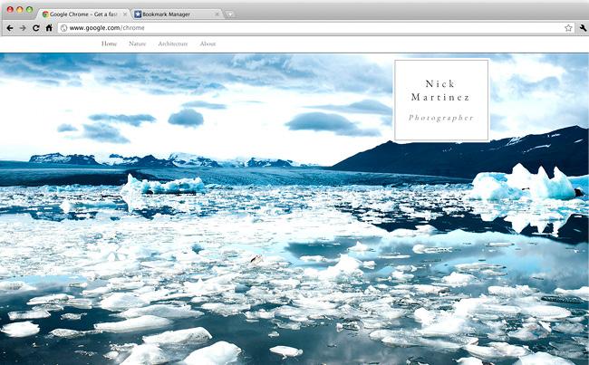 風景写真家向けホームページテンプレート