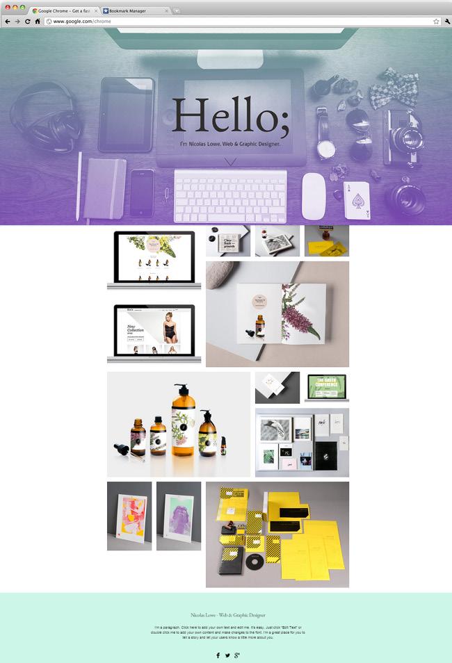 ウェブデザインポートフォリオ