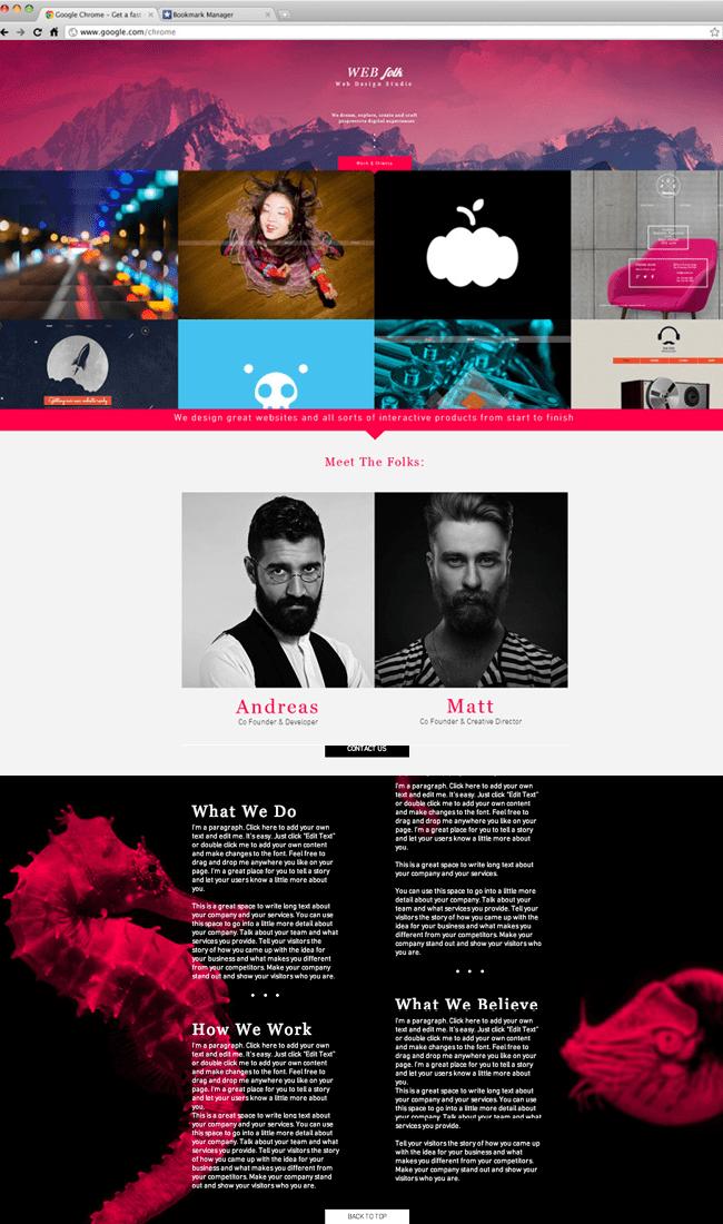 Wixテンプレート「ウェブデザインスタジオ」