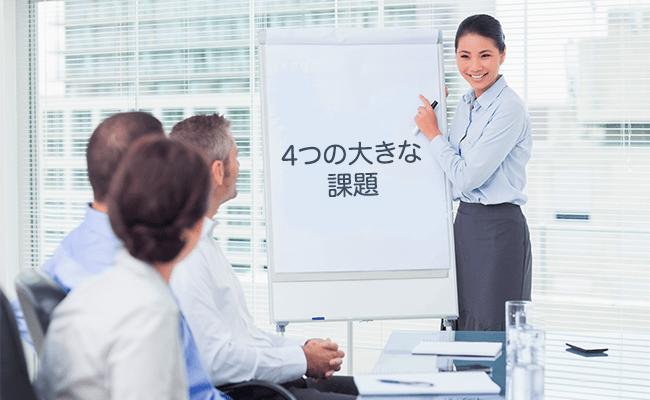 経営者を待ち受ける4つの大きな課題