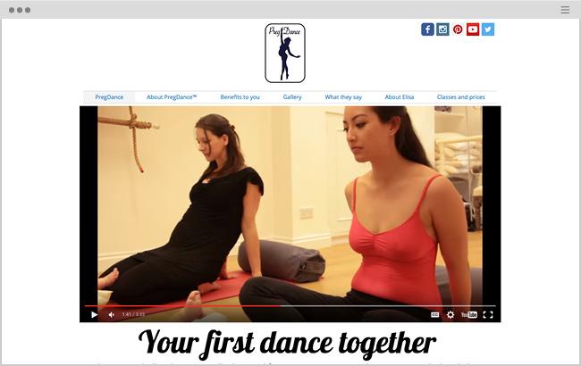 Preg DanceのWixサイト