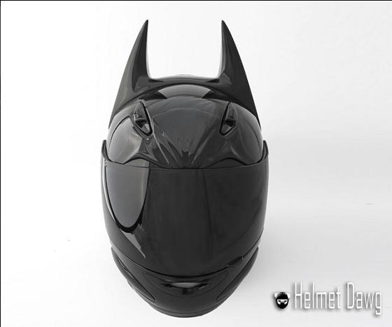 バットマンのオートバイ用ヘルメット