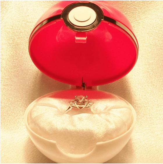 ポケモンの婚約指輪ケース