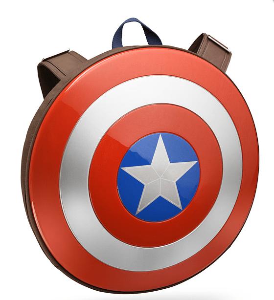 キャプテンアメリカのシールド型リュック