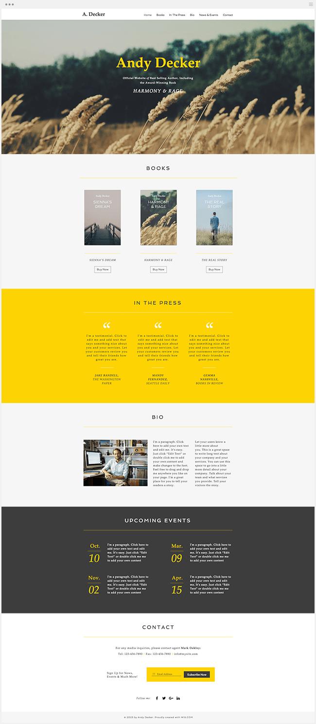 作家のサイト