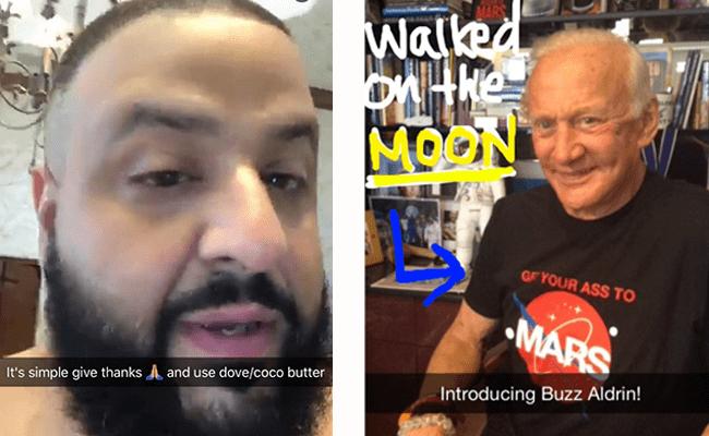 Snapchat、有名人からのコメントをもらう
